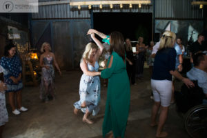Ladies dancing at a party