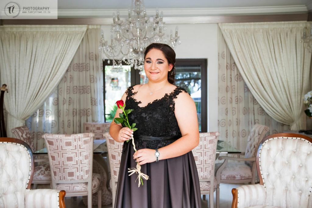 Alex in ombre matric dance dress