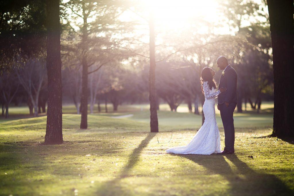 Wedding Portraits under trees