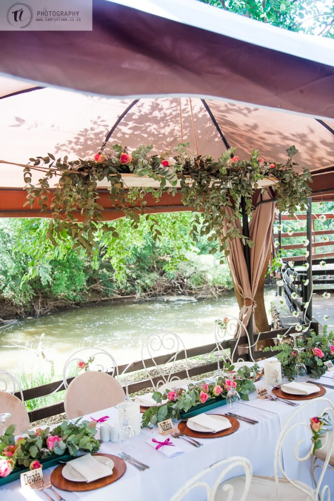 Wedding Tables alongside River