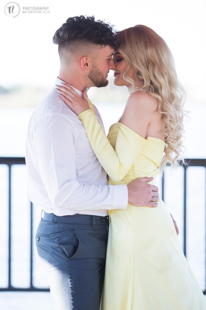 Close up of young couple about to kiss